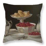 Dessert Still Life, 1855 Throw Pillow