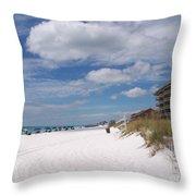 Destin Beach Throw Pillow