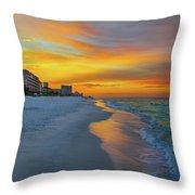 Destin Sunrise Throw Pillow