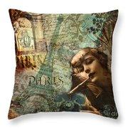 Destination Paris Throw Pillow