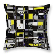 Destructured No. 1 Throw Pillow