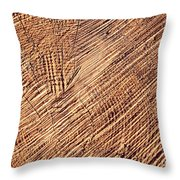 Detail Cut On Trunk Wood Throw Pillow