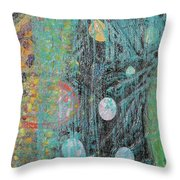 Detail From Creation Of Adam And Eve Throw Pillow