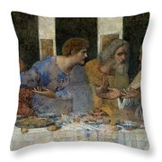 Detail From The Last Supper Throw Pillow