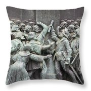 Detail From The Reformation Monument In Copenhagen Throw Pillow