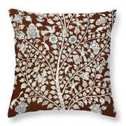 Detail Of A Vintage Botanical Pattern Throw Pillow