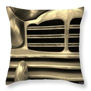 Detail Of An Old Car Throw Pillow
