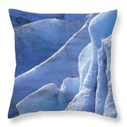 Detail Of Blue Ice On Exit Glaicer Throw Pillow