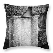 Detail Of Capital Of Cloister At Cong Abbey Cong Ireland Throw Pillow