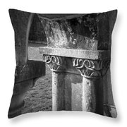 Detail Of Cloister At Cong Abbey Cong Ireland Throw Pillow
