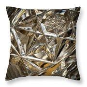 Detail Of Cut Glass Throw Pillow