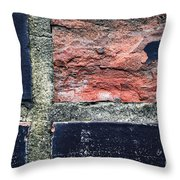 Detail Of Damaged Wall Tiles Throw Pillow