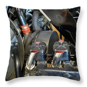Detail Of Engine  Throw Pillow