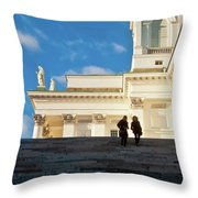 Detail Of Helsinki Cathedral Throw Pillow