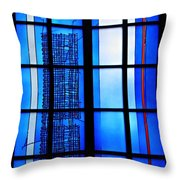 Detail Of Modern Johannes Schreiter Window Mainz 1 Throw Pillow