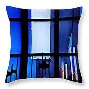 Detail Of Modern Johannes Schreiter Window Mainz 2 Throw Pillow