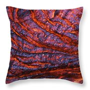 Detail Of Molten Lava Throw Pillow