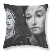 Detail Of Stressed Throw Pillow