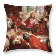 Detail Of The Last Supper Throw Pillow