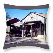 Detail Of Very Cool Old Black Truck 3 Throw Pillow