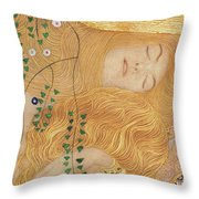 Detail Of Water Serpents I Throw Pillow