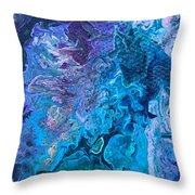 Detail Of Waves 6 Throw Pillow by Robbie Masso