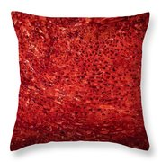 Detail Polished Red Coral Throw Pillow