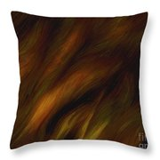 Detail - Pre-raphaelite Tresses Throw Pillow