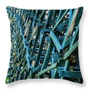 Detail View Of The Kinsol Trestle Throw Pillow