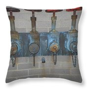 Detailed Four Pipes Throw Pillow
