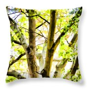 Detailed Tree Branches 2 Throw Pillow