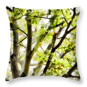 Detailed Tree Branches 3 Throw Pillow