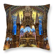 Details Notre Dame Montreal Throw Pillow