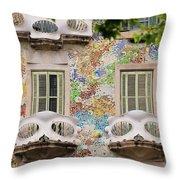 Details Of Casa Batllo In Barcelona 2, Spain Throw Pillow