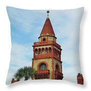 Details Of Flagler College Throw Pillow