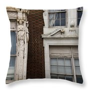 Details Of The Patrick Henry Hotel Roanoke Virginia Throw Pillow