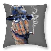Detective Hand Throw Pillow