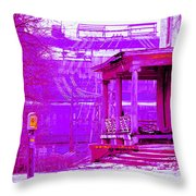 Deterioration In Neon Throw Pillow