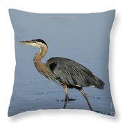Determination - Great Blue Heron Throw Pillow