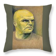 Determination / Portrait Throw Pillow