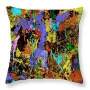 Detour Abstract Art Throw Pillow