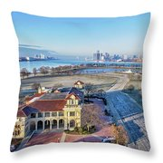 Detroit  A New Day A New Year Throw Pillow