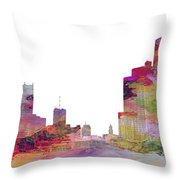 Detroit Colors Throw Pillow