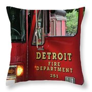 Detroit Fire Department Throw Pillow