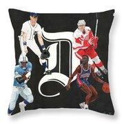 Legends Of The D Throw Pillow