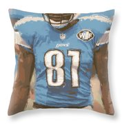 Detroit Lions Calvin Johnson 1 Throw Pillow