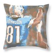 Detroit Lions Calvin Johnson 2 Throw Pillow