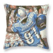 Detroit Lions Calvin Johnson 3 Throw Pillow