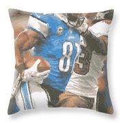 Detroit Lions Calvin Johnson 4 Throw Pillow