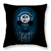Detroit Lions War Mask Throw Pillow